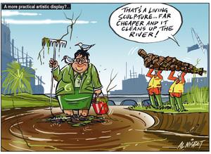 Metiria Turei cleans up the Avon River
