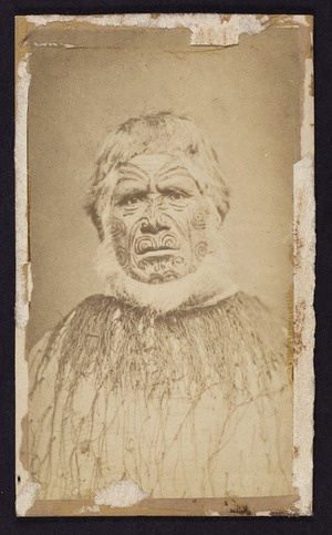 Harding, W J (Wanganui), fl 1875-1880 :Portrait of unidentified man