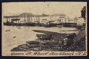 Photographer unknown :Photograph of Queen St Wharf Auckland New Zealand