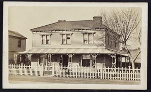 Wesleyan parsonage, Christchurch - Photograph taken by William Ferrier