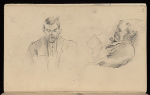 Hodgkins, Frances Mary 1869-1947 :[Man with pipe, reading. Man reading. ca 1890]
