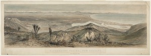 Norman, Edmund 1820-1875 :Canterbury Plains,- New Zealand. / Drawn by E. Norman. Maclure, Macdonald & Macgregor, Lith, London. Lyttelton, Published by Martin G. Heywood, [ca 1855].