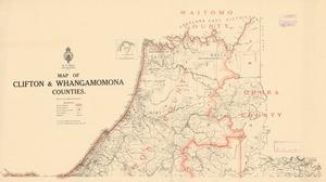 Map of Clifton & Whangamomona Counties.
