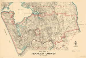 Index map of Franklin county.