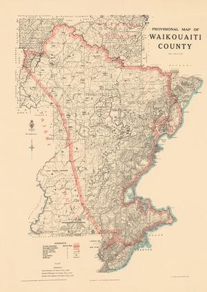Provisional map of Waikouaiti County.