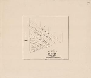 Plan of block XXV town of Clinton / / C.B. Shanks, surveyor, October 1876.