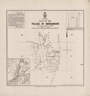 Plan of the Village of Mangamahoe.