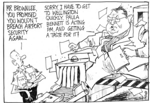 Gerry Brownlee breaches airport security
