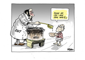 Andrew Little begs for votes