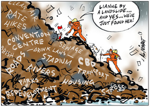 Lianne Dalziel landslide