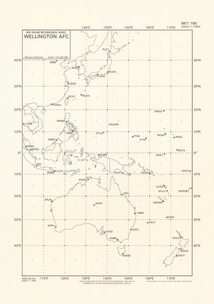 Wellington AFC : [Western pacific and Australasia] / drawn by the Department of Lands and Survey, Wellington, New Zealand.