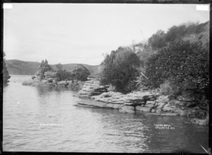 Tokanui Rocks, Raglan Harbour, 1910 - Photograph taken by Gilmour Brothers