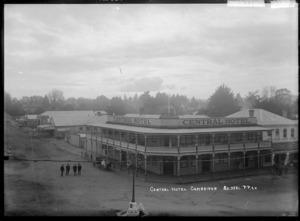 Central Hotel at Cambridge, circa 1915