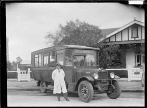 Passenger Transport Company bus and driver, Otahuhu