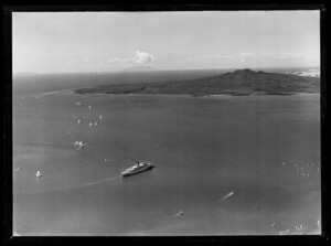Departure of the steam ship Monterey, Auckland