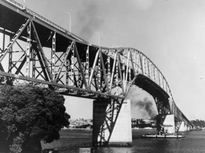 View of Auckland Harbour Bridge, from Northcote Point
