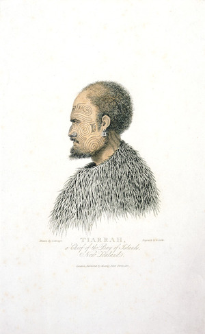 Savage, John, 1770-1838 :Tiarrah, a chief of the Bay of Islands, New Zealand. Engrav'd by G Cooke; drawn by J Savage. London 1807