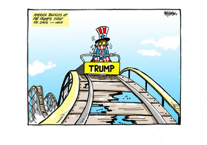 Uncle Sam on Trump's rollercoaster