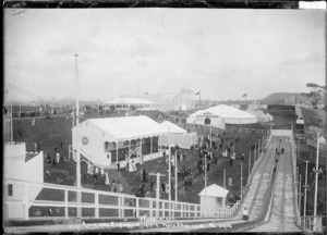 View of Wonderland showing the Royal Hippodrome and Roller Coaster, Auckland Exhibition, Auckland Domain
