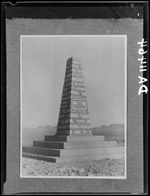 Monument at `Maori Hill' (Pt 209), Tebaga Gap, Tunisia