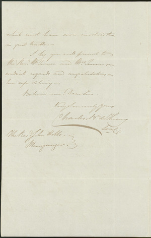 Page two : Letter to John Hobbs