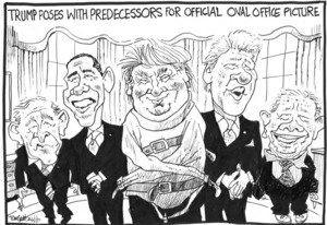 Trump in a line up of American Presidents