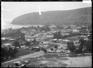 View of the township of Sumner, near Christchurch