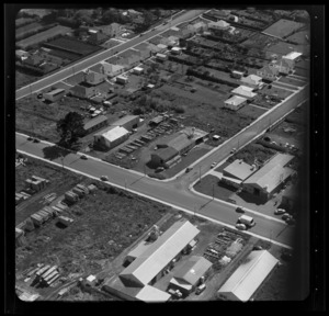 Timber yard and surrounding area, Auckland