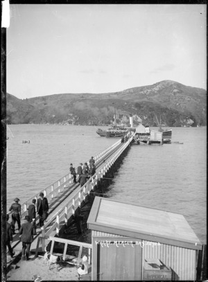 Ferry and passengers, Whitianga Wharf, Mercury Bay, Coromandel Peninsula