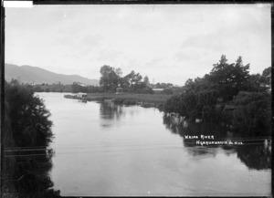 The Waipa River at Ngaruawahia, circa 1910