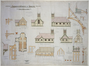 Clere, Frederick de Jersey 1856-1952 :Proposed church at Taueru [1903, 1904 or 1905?]
