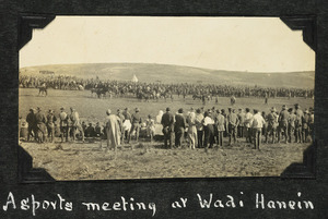A sports meeting at Wadi Hanein