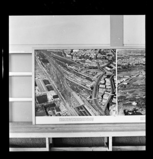 Railway yards, Auckland, photograph used in the Changing Auckland Exhibition