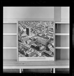 Photographic montage of Civic Square, Auckland, photograph used in the Changing Auckland Exhibition