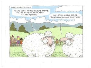 Sheep numbers-tourist numbers