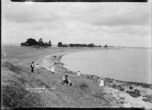 Beach at Browns Island, Hauraki Gulf