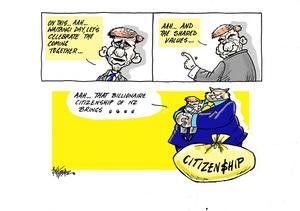 On Waitangi Day Prime Minister Bill English celebrates the values of billionaire citizenship in New Zealand