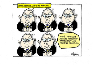 Gerry Brownlee twiddling his thumbs and asking who is overseeing diaster response