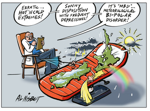 New Zealand in the psychiatrist chair suffering from meteorological bipolar disorder