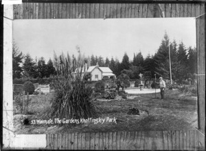 Gardens at Knottingly Park, Waimate - Photograph taken by W.G.R.