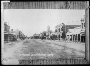 Queen Street, Waimate, looking north - Photograph taken by W.G.R.
