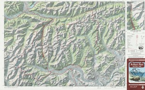 Map of Arthur's Pass National Park