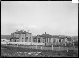 View of the Court House, and the Roads & Survey Department building, Taumarunui