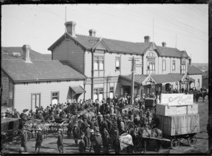 James Stanbury arriving at the Wanganui Railway Station