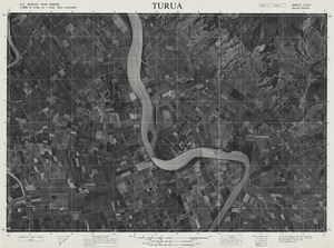 Turua / this map was compiled by N.Z. Aerial Mapping Ltd. for Lands & Survey Dept., N.Z.