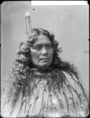 Waitapu Rongonui - Photograph taken by William Henry Thomas Partington