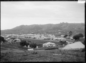 View of Te Kuiti from Awakino Road behind the meeting house