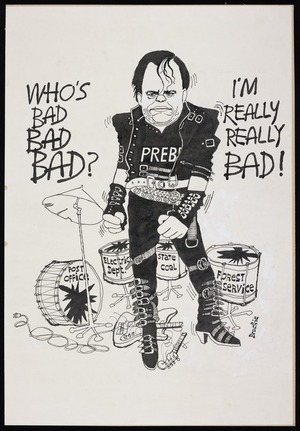 "Brockie, Bob, 1932- :""Who's bad Bad Bad?"" ""I'm really really Bad!"" [ca. 1987]"