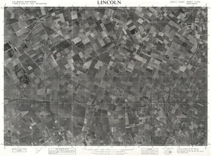 Lincoln / this map was compiled by N.Z. Aerial Mapping Ltd. for Lands & Survey Dept., N.Z.