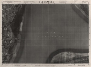 Ellesmere / this mosaic compiled by N.Z. Aerial Mapping Ltd. for Lands and Survey Dept., N.Z.